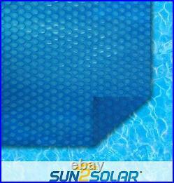 Sun2Solar 18' Round Blue Swimming Pool Solar Heater Blanket Cover 1200 Series