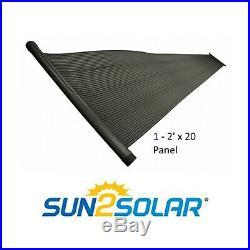 Sun2Solar 2' x 20' Swimming Pool Replacement Solar Heating Add On Panel
