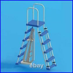 Swimline Above Ground Pool A Frame Ladder with Barrier for 48 Inch Pools (Used)