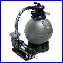 Swimline Sand Filter Above Ground Pool System with Hi-Flo Single Speed Pump