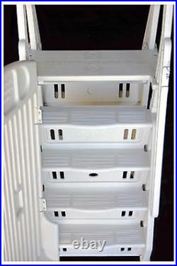 VinylWorks GE-T 30 Above Ground Swimming Pool Step & Ladder Entry System-Taupe