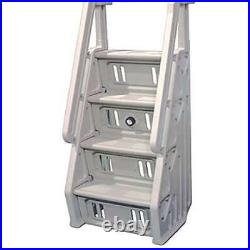 Vinyl Works Deluxe In Step 46-60 Above Ground Pool Ladder, White (Open Box)