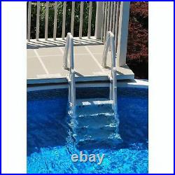 Vinyl Works Deluxe In Step 46-60 Above Ground Swimming Pool Ladder, White(Used)